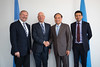 (L to R) Alois Zwinggi, Managing Director, WEF, Prof. Klaus Schwab, Founder and Executive Chairman, World Economic Forum, Mr Houlin Zhao, Secretary-General, ITU and Preetam Maloor, ITU