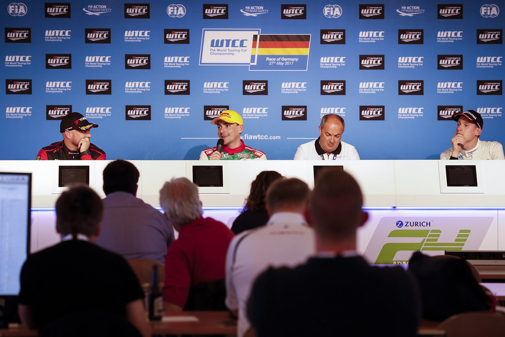 Qualifications' press conference during the 2017 FIA WTCC World Touring Car Race of Nurburgring, Germany from May 26 to 28 - Photo Florent Gooden / DPPI
