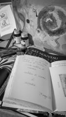 Nautilus (A quiet Saturday afternoon)   #blackandwhite #blackandwhitephotography #monochrome #artphoto #androidography #textureblendphotography #books #calligraphy