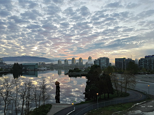Early morning clouds from Cambie Bridge