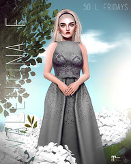 Valentina E. Special Edition Platinum Julianne Jeweled Gown For Fifty Linden Fridays!