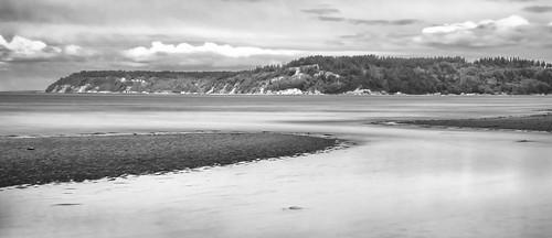 picnicpoint edmonds washington unitedstates us lowtide blackandwhite longexposure beach shoreline
