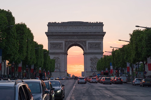 Sunset @ Arc de Triomphe | by Charles EYES PiX