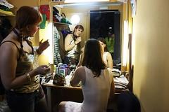 Preparativos antes del show