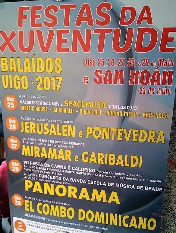 Vigo 2017 - Festa da Xuventude de Balaídos - cartel