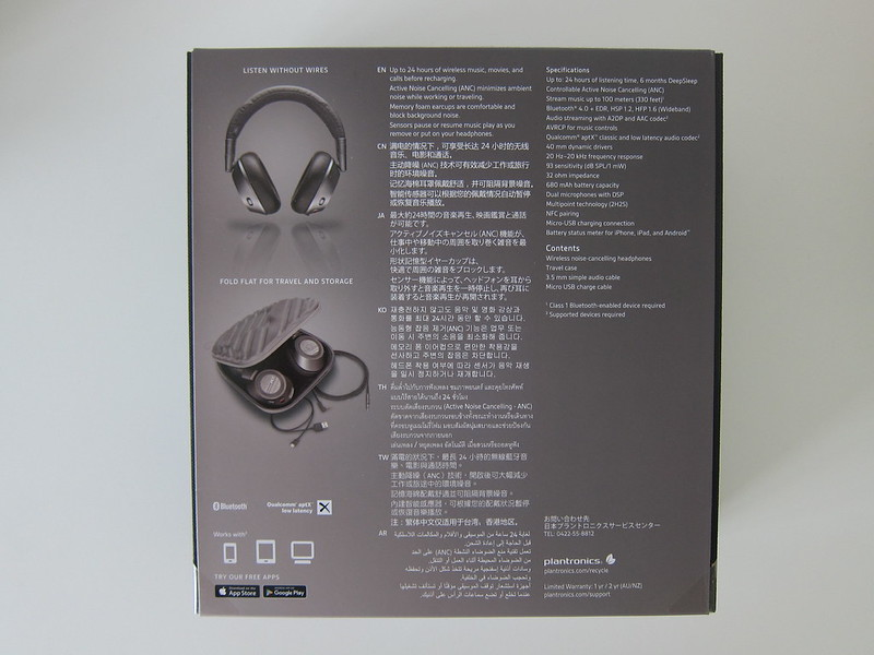 Plantronics BackBeat PRO 2 SE - Box Back