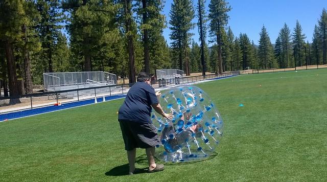 Human ball relay race