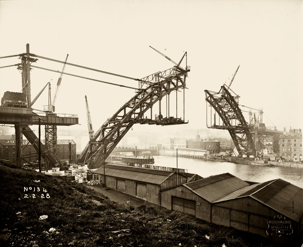 View of the Tyne Bridge from Gateshead