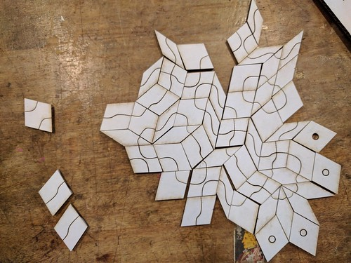Penrose tile game play testing