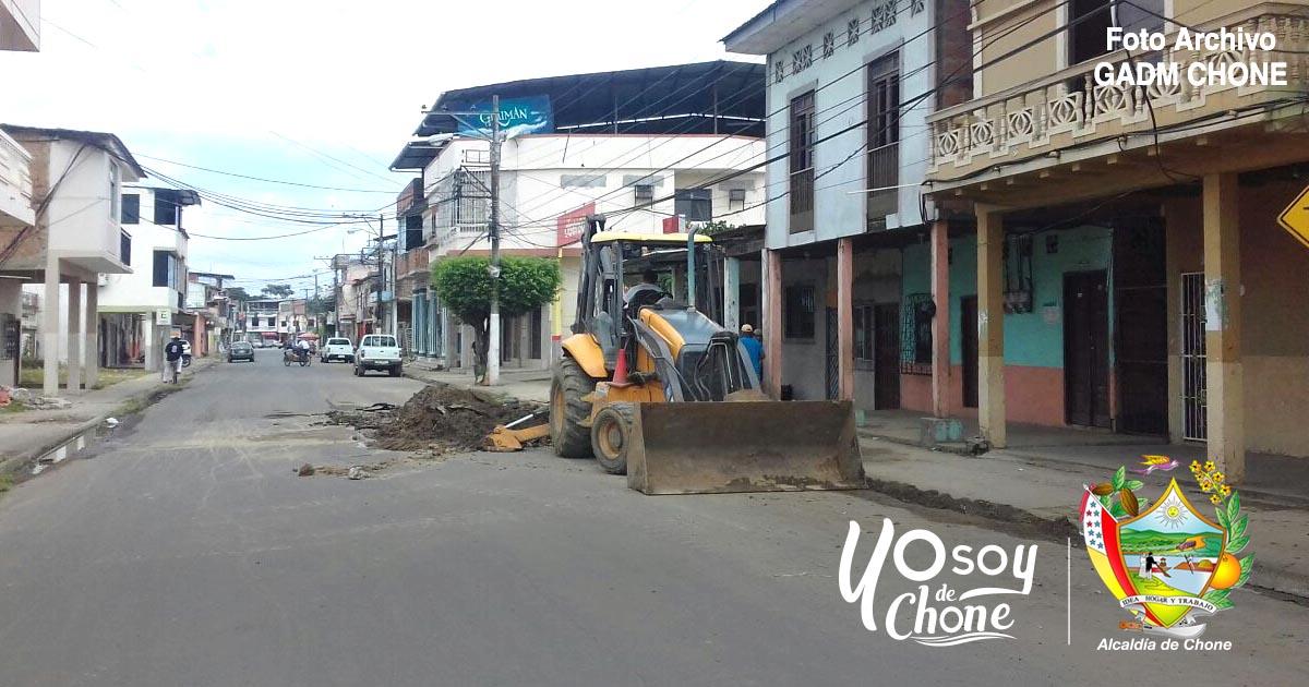 Empresa de agua potable retomará trabajos en calle Bolívar