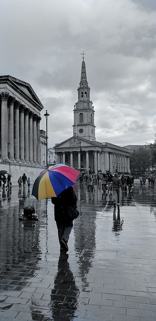 rainy London afternoon