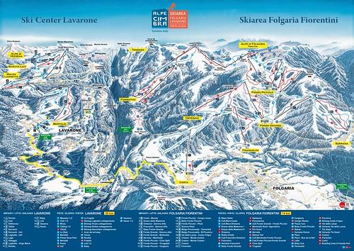 Lavarone - mapa sjezdovek