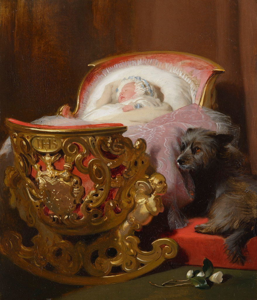 Princess Alice asleep by Edward Landseer, 1843