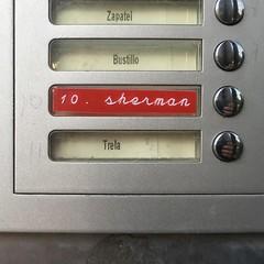 Nick Sherman's doorbell