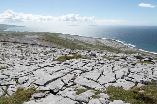 ireland eire theburren countyclare landscape countryside nature limestone coast coastal seaside sea galwaybay