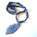 Blue/Magenta Feather Necklace