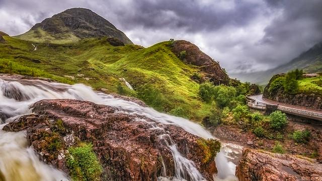 The falls of natural beauty ....Glencoe