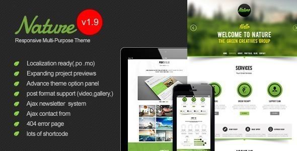 Nature v1.9 - Responsive Onepage WordPress Theme