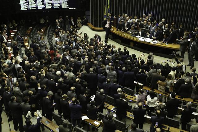Oposição deixou no Plenário da Câmara após governo determinar reforço de tropas federais para proteger Esplanada - Créditos: Fabio Rodrigues Pozzebom/Agência Brasil