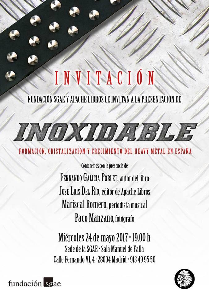 Invitación Presentación Inoxidable