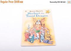 Herbert the Timid Dragon, Mercer Mayor, Vintage, Children's, Book ~ The Pink Room ~ 170209 by ThePinkRoom