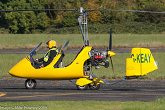 G-KEAY - 2013 build Rotorsport UK MTOSport, arriving at Halfpenny Green for the 2016 Rotorsport Autogyro Fly-In