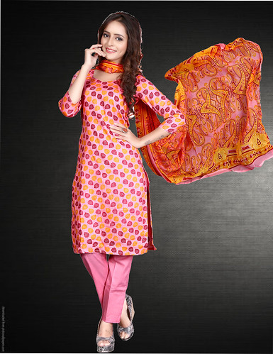 Pink Printed Glace Cotton Un-Stitched Dress Material With Dupatta published on Wilori click http://wilori.com/product/pink-printed-glace-cotton-un-stitched-dress-material-with-dupatta/  to open