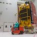 Transfer of EUTELSAT 172B to the S5A hall of the spacesport's state of the art satellite preparation facility (Kourou, French Guiana)