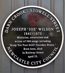 Photo of Joseph Wilson black plaque