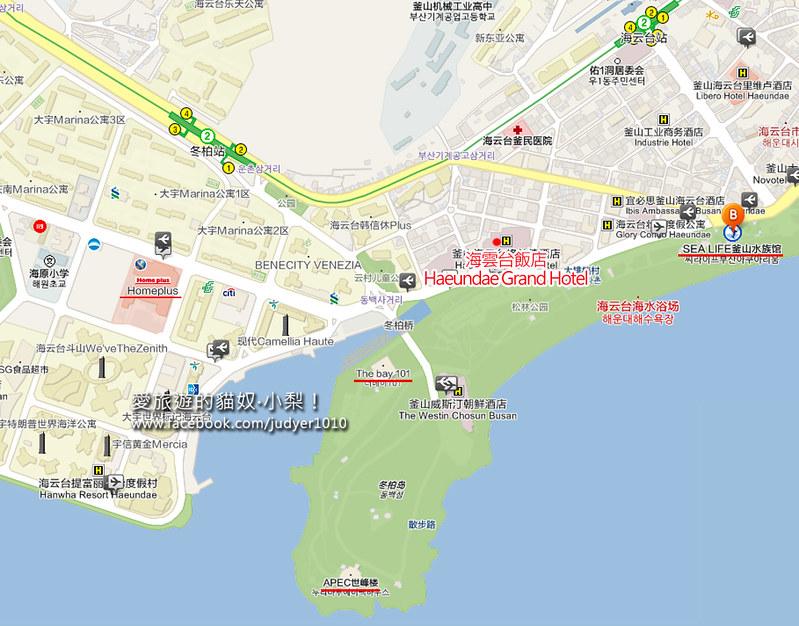 海雲台地圖1