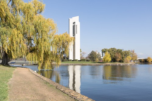 Around Canberra's Carillon in autumn