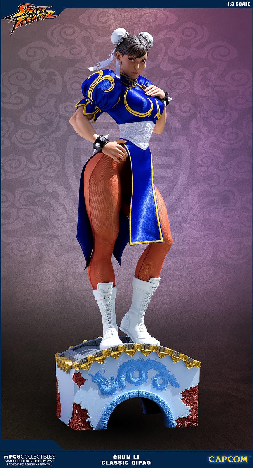 就是這個包頭!!Pop Culture Shock 【春麗】1/3比例雕像 經典旗袍限定版 CHUN LI 1:3 Statue Classic Qipao Exclusive