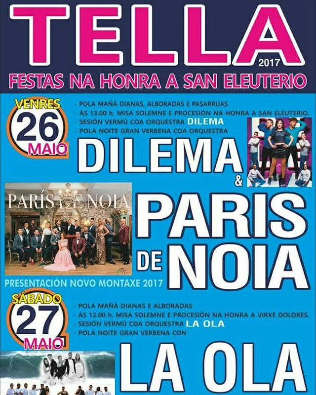 Ponteceso 2017 - Festas de San Eleuterio en Tella - cartel