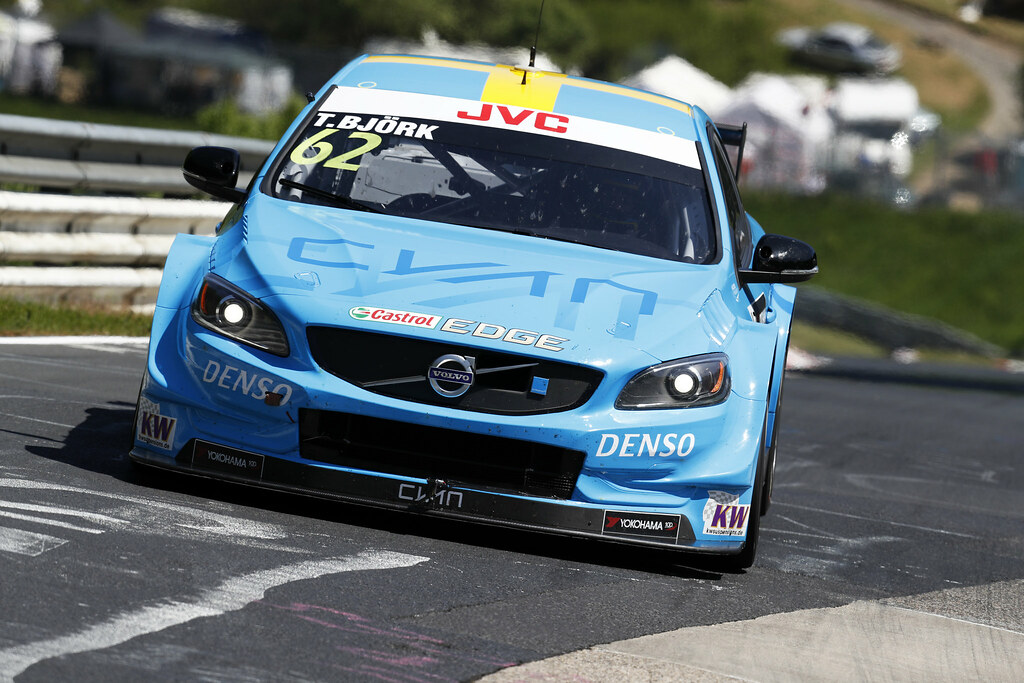 62 BJORK Thed (swe), Volvo S60 Polestar team Polestar Cyan Racing, action during the 2017 FIA WTCC World Touring Car Race of Nurburgring, Germany from May 26 to 28 - Photo Clement Marin / DPPI