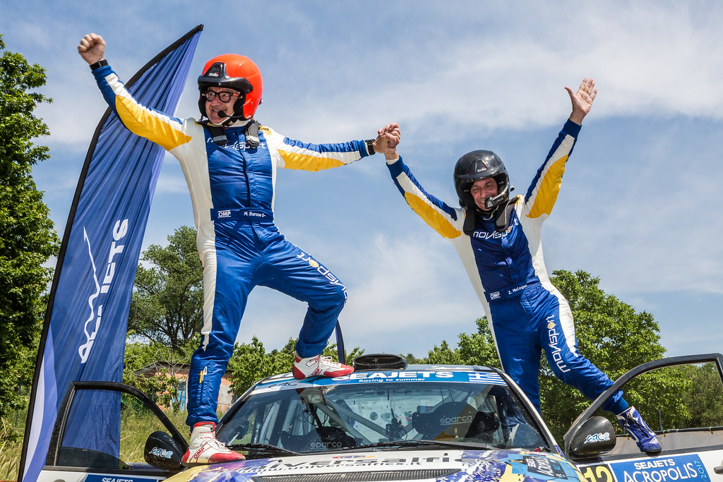 MELEGARI Zelindo (ita) and BARONE Maurizio (ita) ambiance portrait during the European Rally Championship 2017 - Acropolis Rally Of Grece - From June 2 to 4 - Photo Thomas Fenetre / DPPI