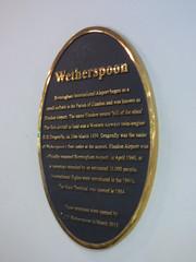 Photo of Birmingham Airport black plaque
