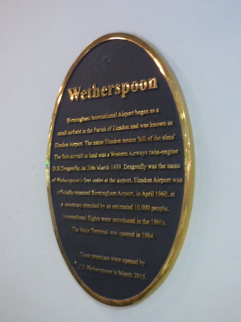 Photo of Birmingham Airport black plaque