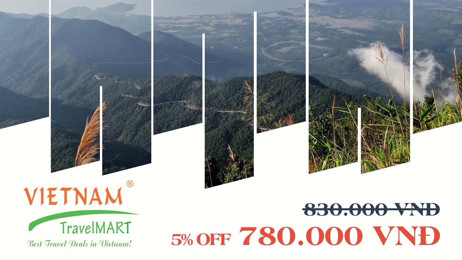 VIETNAM TRAVELMART JSC   5% OFF BACH MA NATIONAL PARK DAILY TOUR