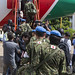 Japanese troops lower flags in UNMISS