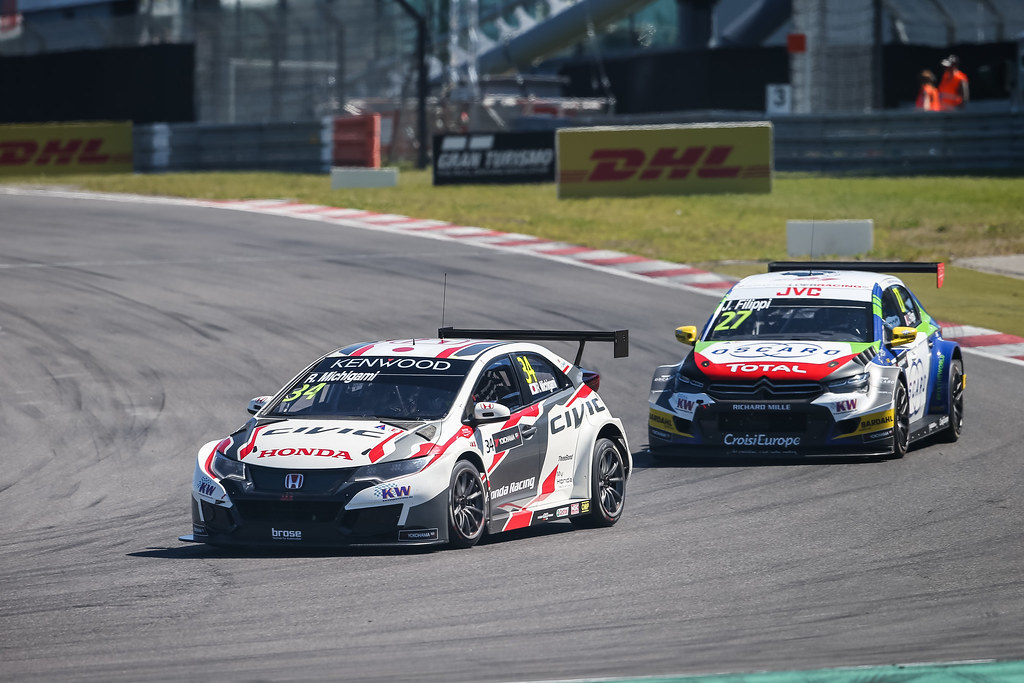 34 MICHIGAMI Ryo (jpn), Honda Civic Honda racing team Jas, 27 FILIPPI John (fra), Citroen C-Elysee team Sebastien Loeb Racing, action during the 2017 FIA WTCC World Touring Car Race of Nurburgring, Germany from May 26 to 28 - Photo Antonin Vincent / DPPI