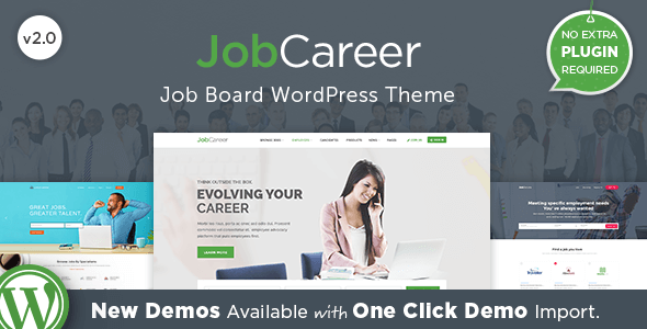 JobCareer v2.1 – Job Board Responsive WordPress Theme