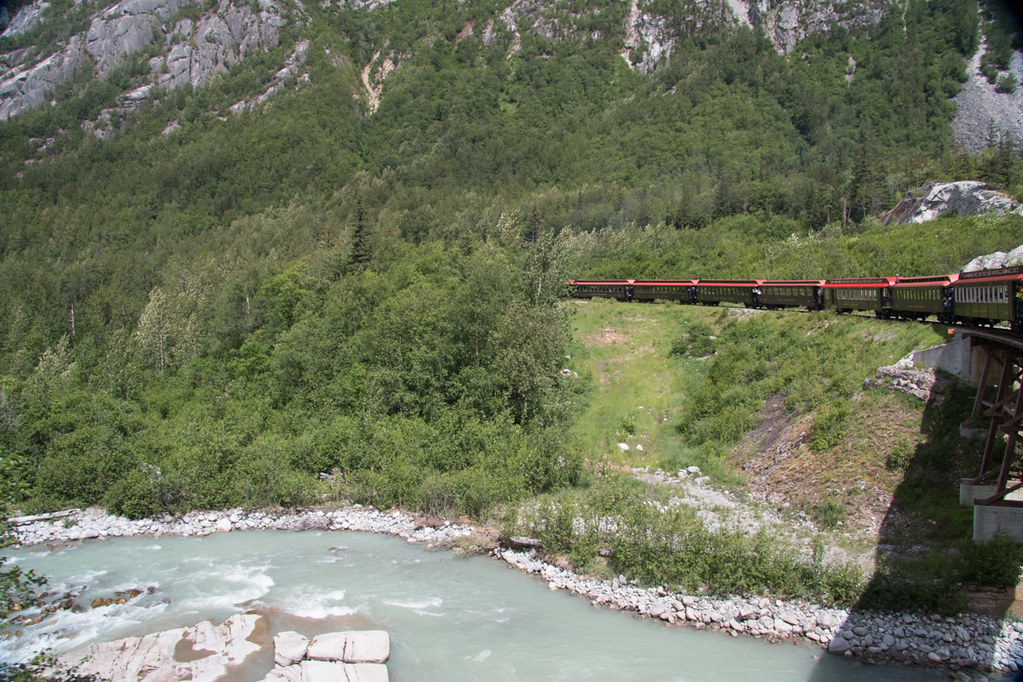 White Pass and Yukon Route train in Skagway