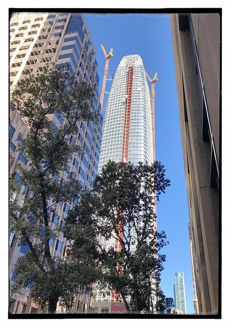 New skyscraper under construction. This is the Salesforce Tower, previously known as the Transbay Tower.