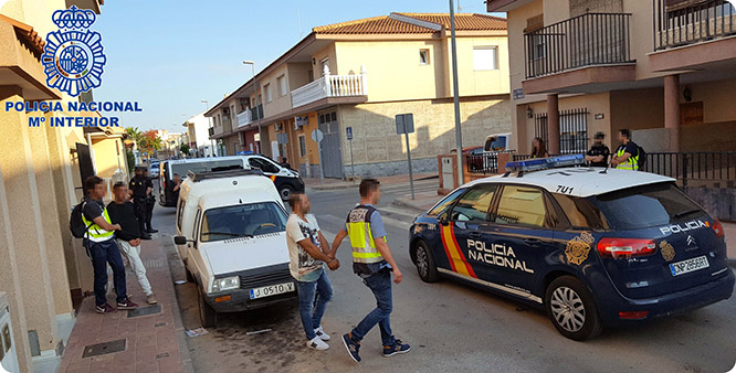 Detenidos nueve miembros de un grupo criminal dedicado a atracar salones de juego