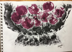 Plums - Garland Thayer - Ink