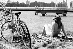 Street Photography — Summer has arrived in NYC, what are you waiting for to get some sunshine. Any park is good enough to ride your bike and enjoy the wonderful weather. It was only last week that @lalounyc was freezing here while making some portraits, r