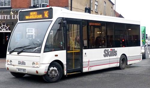 MX07 BBZ 'Skills Coaches' Optare Solo M780SE /1 on 'Dennis Basford's railsroadarunways.blogspot.co.uk'