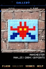 MAN_25 , Invader, Flash Invaders, street art Manchester