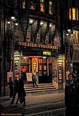 The Theater Tuschinski at night, Rembrandtplein Amsterdam