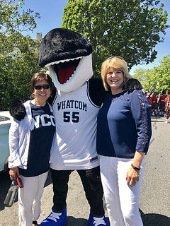 Rep. Luanne Van Werven and Whatcom County College President Kathi Hiyane-Brown.